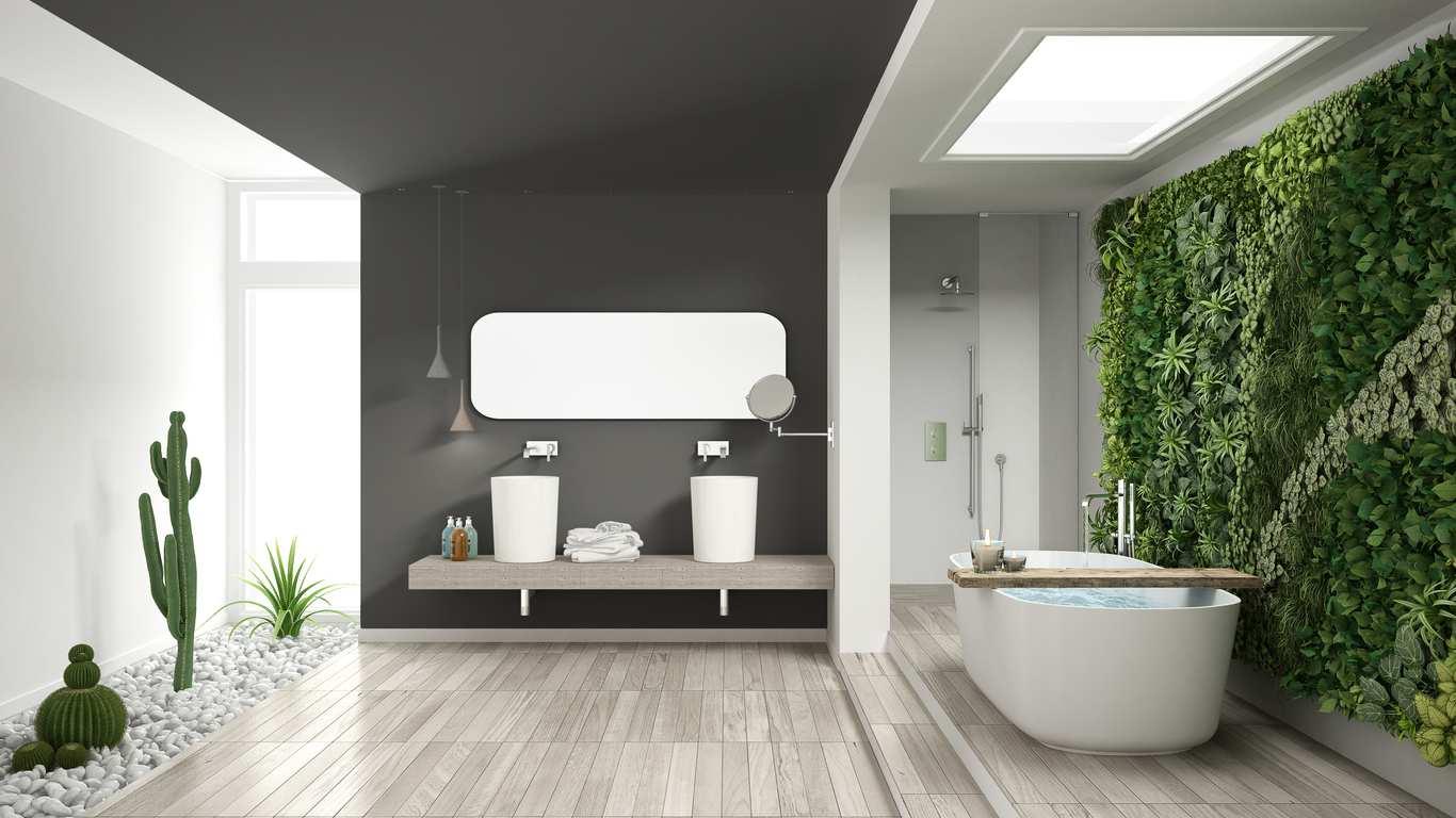 comment cr er une salle de bain contemporaine bricofamily. Black Bedroom Furniture Sets. Home Design Ideas