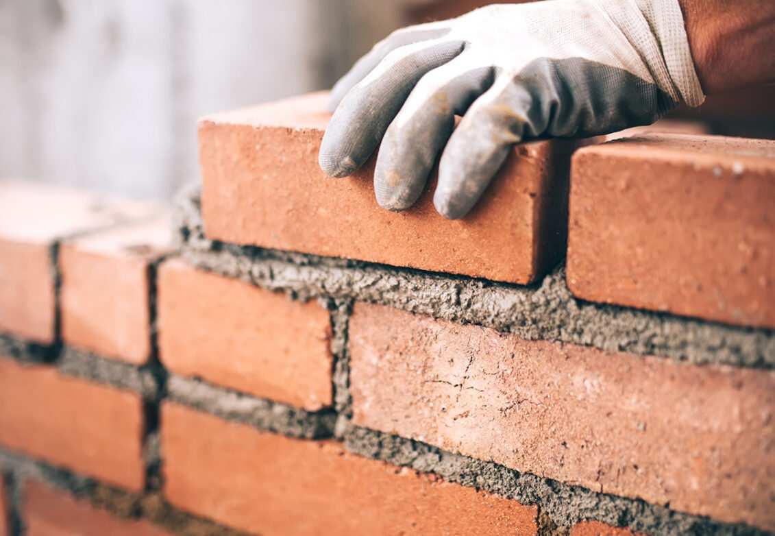 Briques avec du mortier