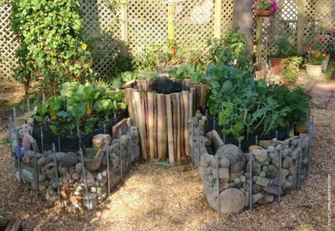 Un joli keyhole garden