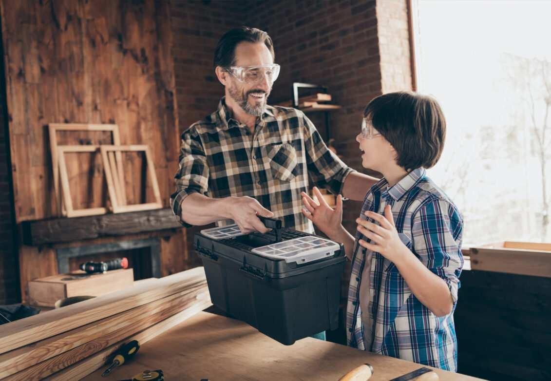 Une boîte à outils en cadeau de fête des pères
