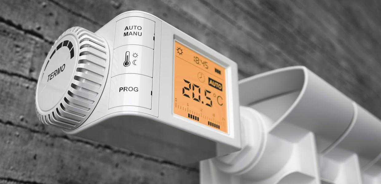 Réglez le chauffage avec précision grâce au thermostat du radiateur à inertie