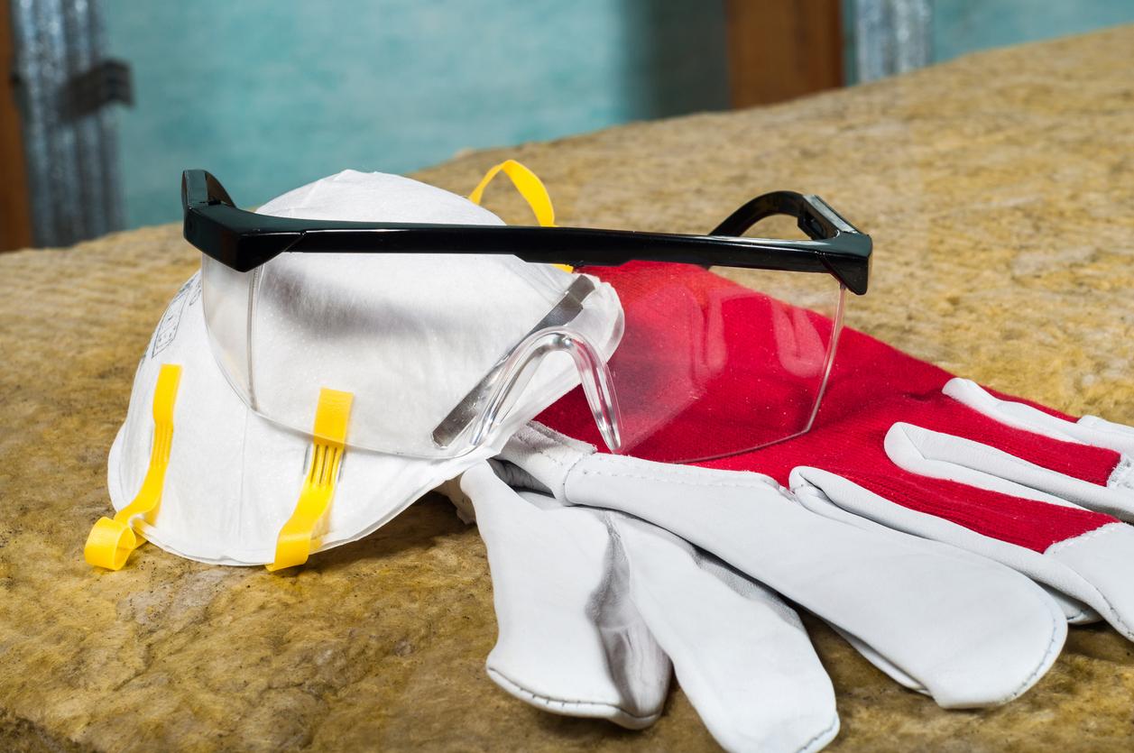 Masque, lunettes et gants de protection pour bricoleur