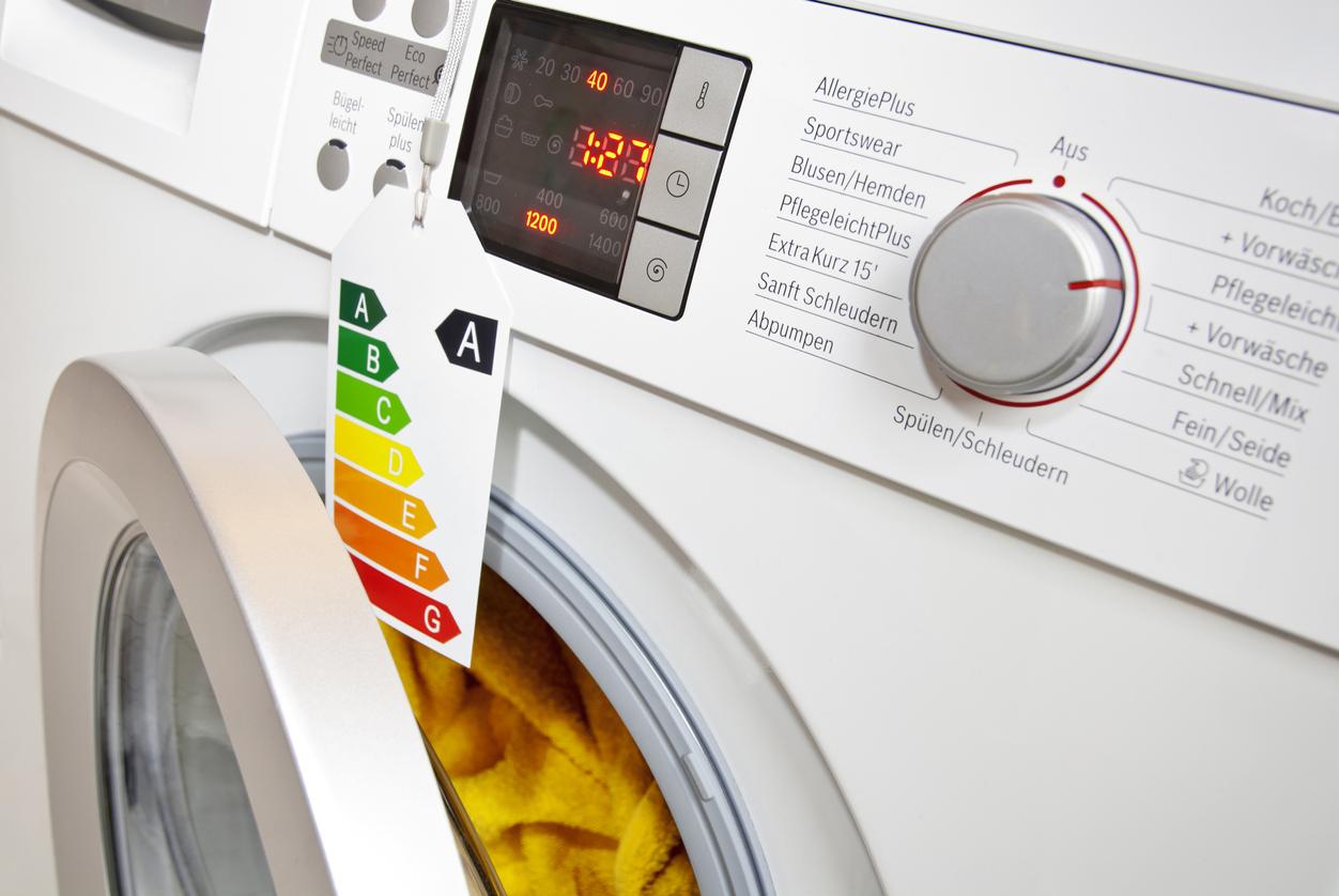 Etiquette énergie lave-linge