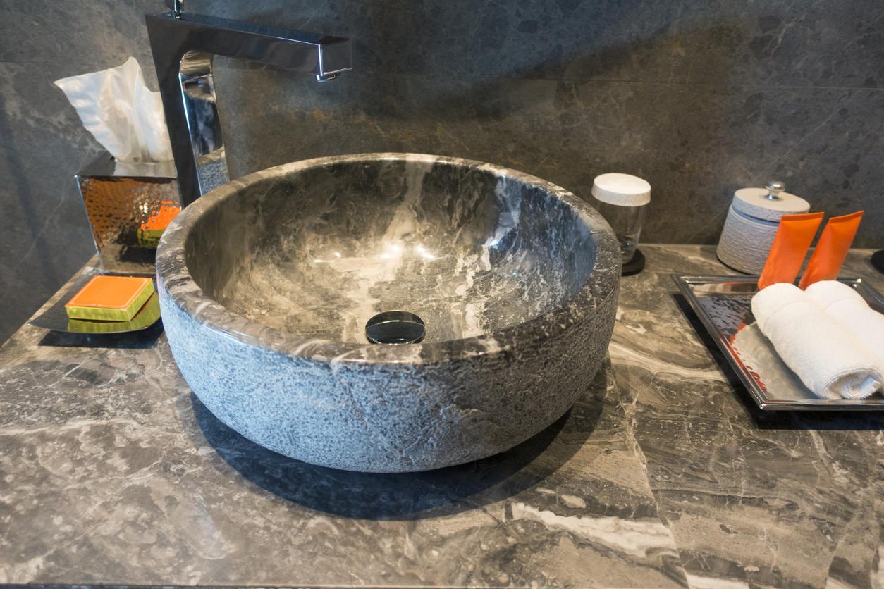 Vasque en marbre salle de bain